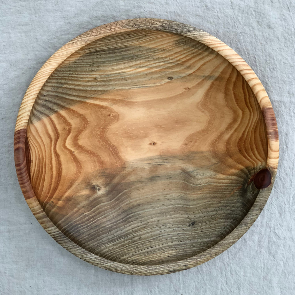 CANARY ISLAND PINE WOODEN BOWL 16""