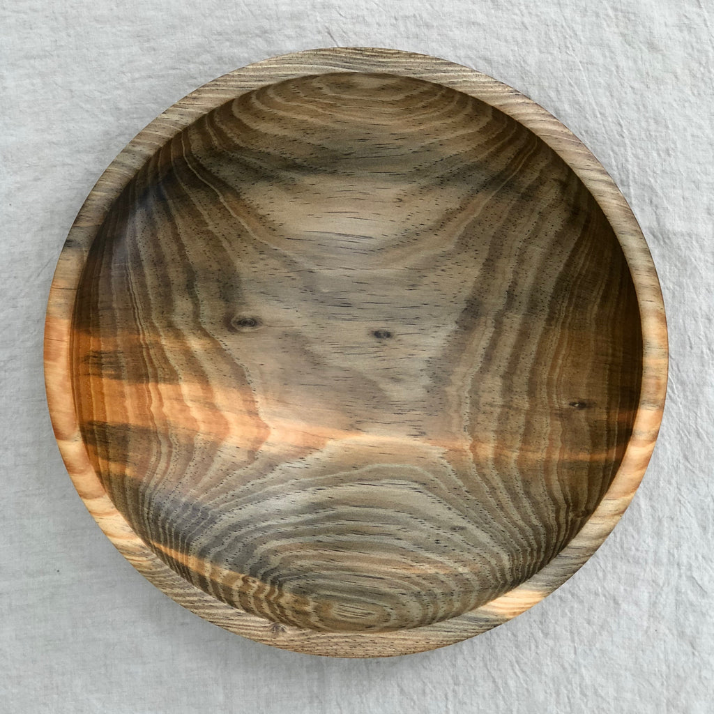 CANARY ISLAND PINE WOODEN BOWL 15""