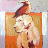 "GREAT DANE AND CROW 48"" X 36"""