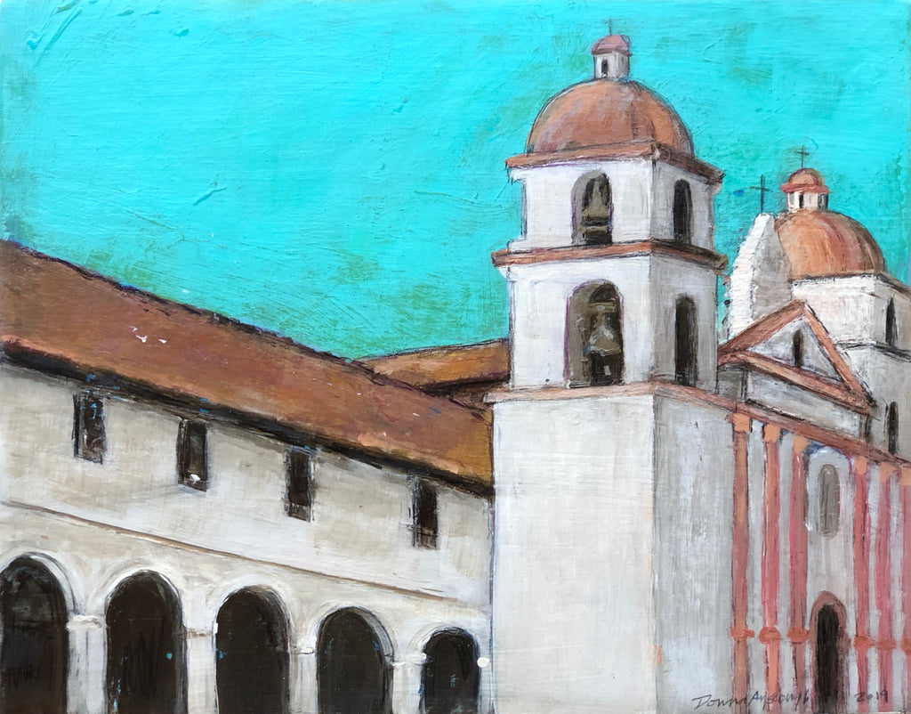 "THE SANTA BARBARA MISSION 11"" X 14"""