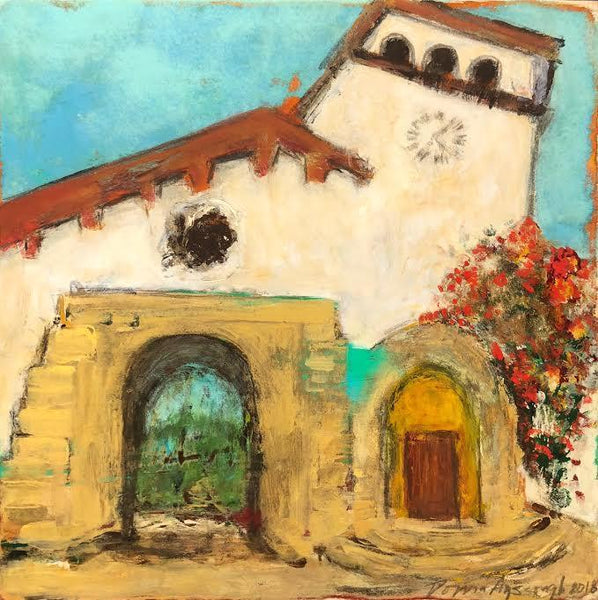 "THE SANTA BARBARA COURTHOUSE 8"" X 8"""