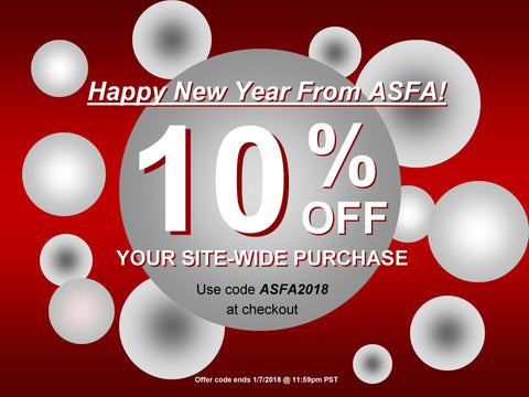 10% off ASFA 2018 coupon