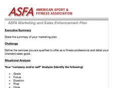 ASFA® Sample Market Analysis and Planning Template
