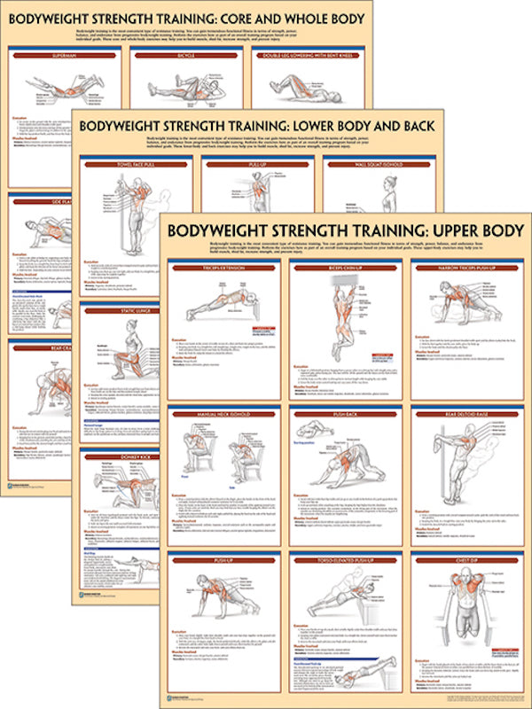 Bodyweight Strength Training Poster Series