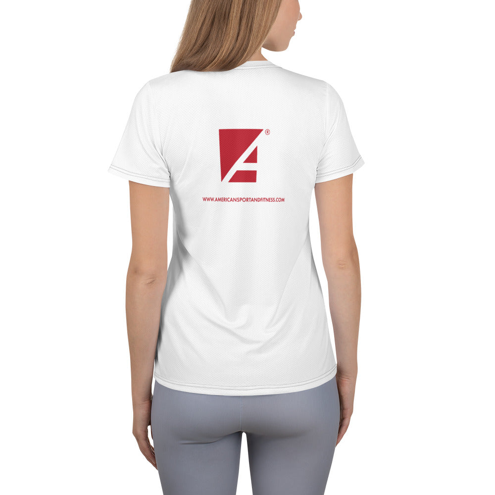 Women's Athletic Mesh T-shirt (White)
