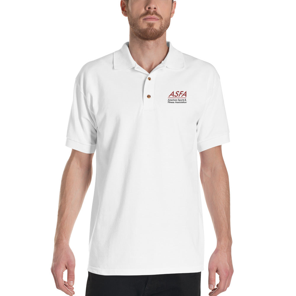 Men's White Polo Shirt - ASFA