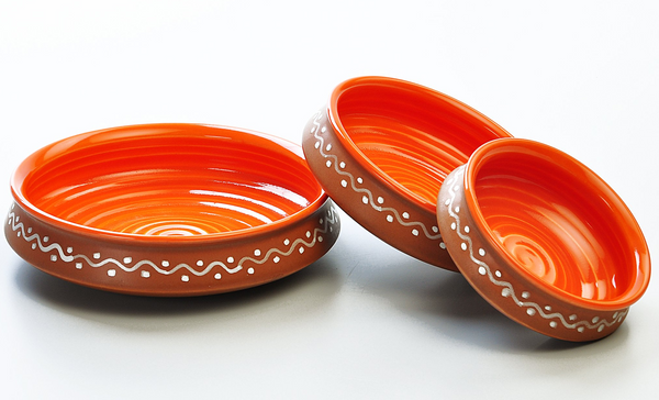 Terracotta Serving Bowls or Urlis - Set of 3