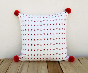 Christmas pillow cover, aztec print, cotton pillow case, geometrical, standard size 16X16 inches.