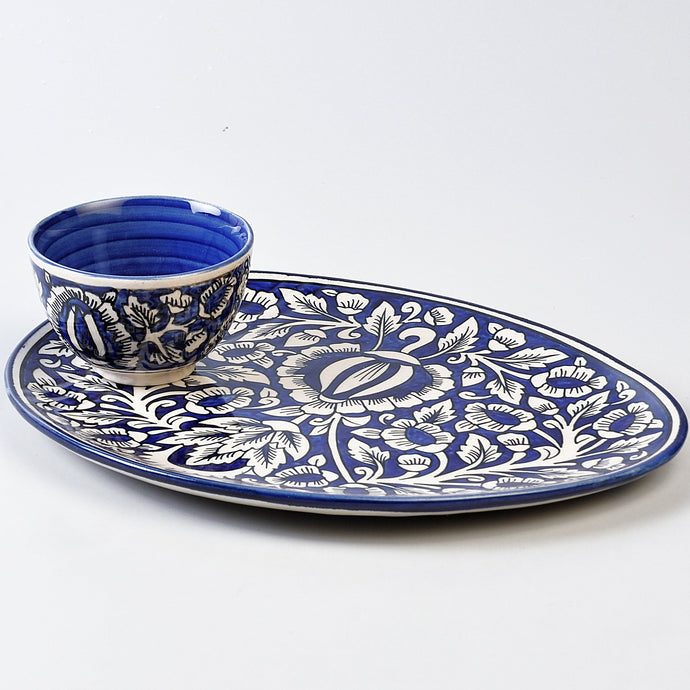 Mughal Oval Dip Platter - Set of 2pcs