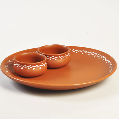 Terracotta Snacks Serving Platter