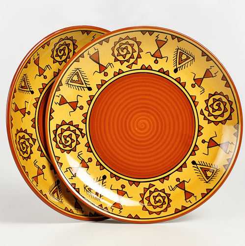 Warli Full Plates - Set of 2