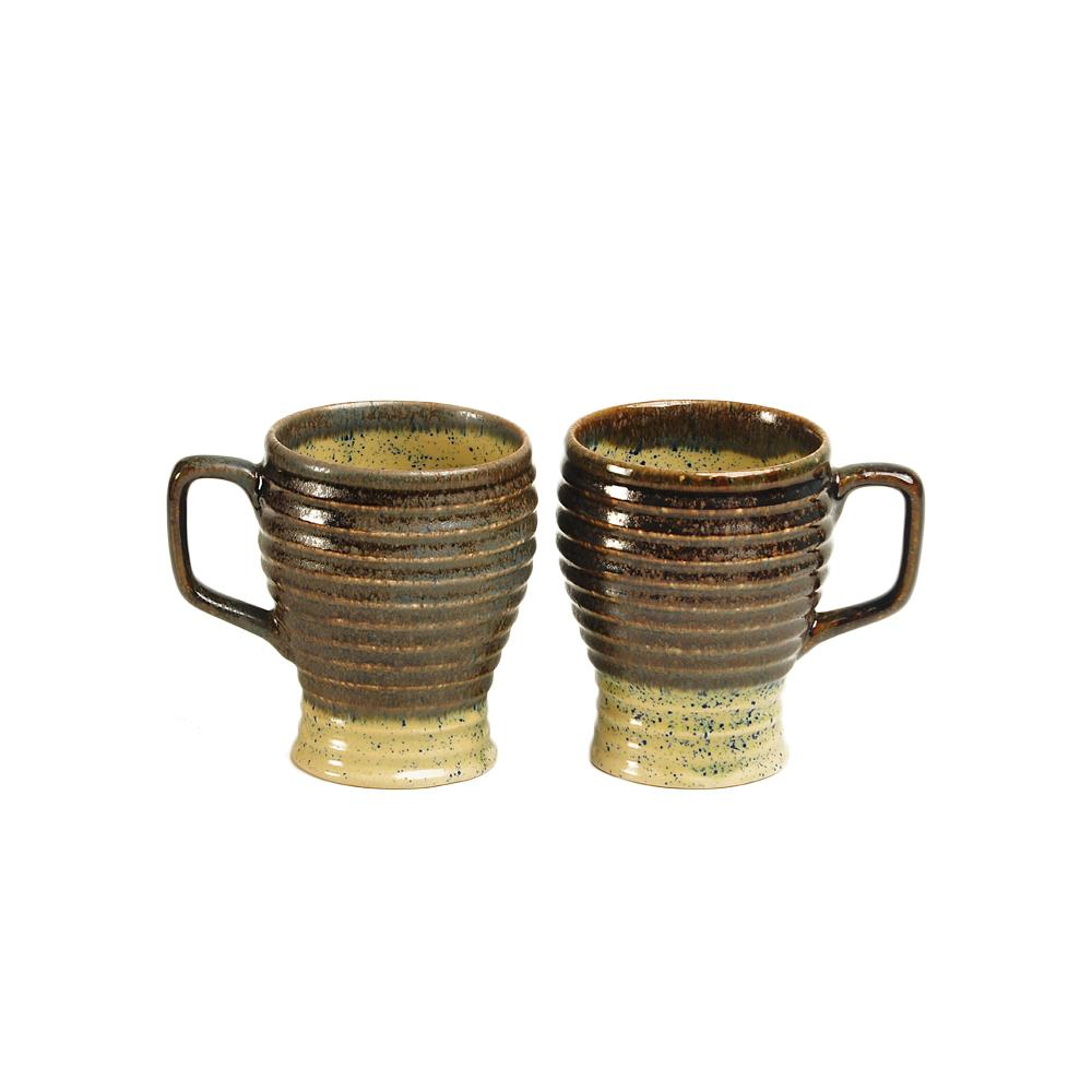 Beige N Brown Cara Milk Mugs - Set of 2