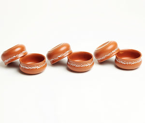 Terracotta Dip Bowls- Set of 6