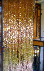 HANDMADE GLASS READY MADE  - Antique Champagne Double Gold (6ft x 2.5ft - Single Door)