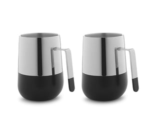 Arttdinox Magic Black Coffee Mug Set of 2 (Ss & Black Combo)