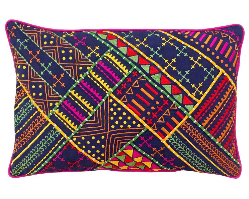 Tribal Cushion cover- Dark Blue
