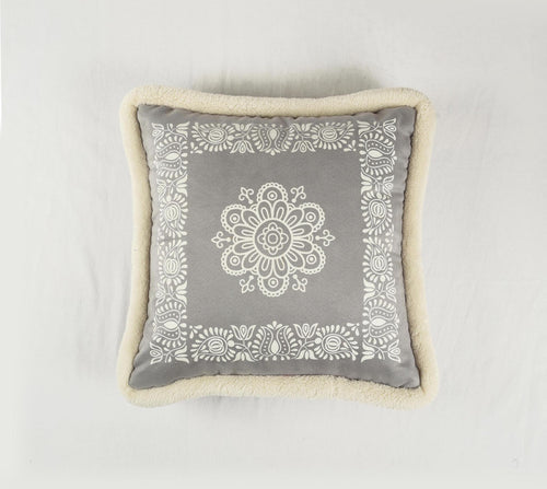 Grey, cushion cover, printed pillow, nordic style, scandinavian pillow, 16X16 inches