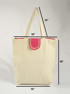 Natural cotton bag, reusable grocery bag, cloth tote bag, eco friendly bag, shopping bag, 18X16 inches