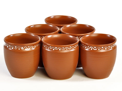 Terracotta Kullad - set of 6