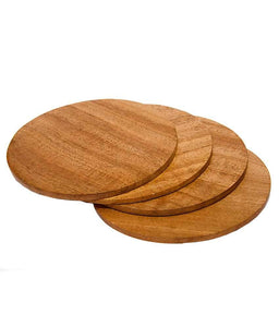 Plain Neemwood Tea Coasters Set of 4