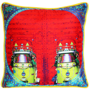 Vibrant Red Poly Dupion Cushion Cover