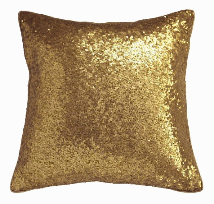 ANS Allover Gold Sequinned cushion cover