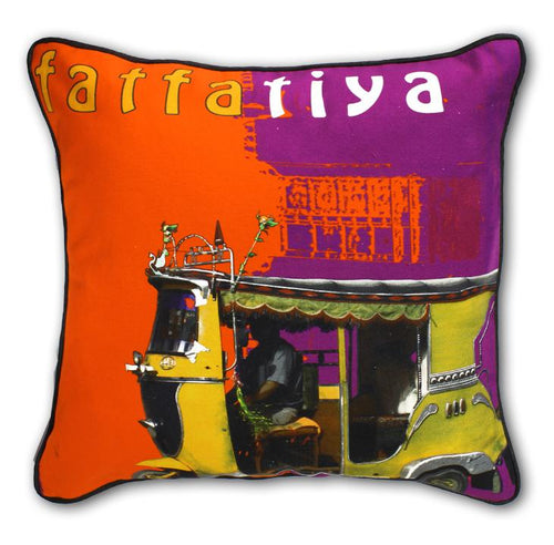 Yellow Taxi Cushion Cover