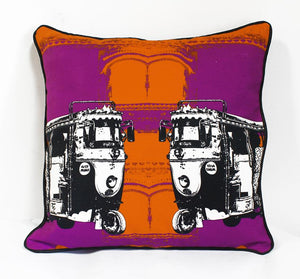 Two B & W Taxi Cushion Cover