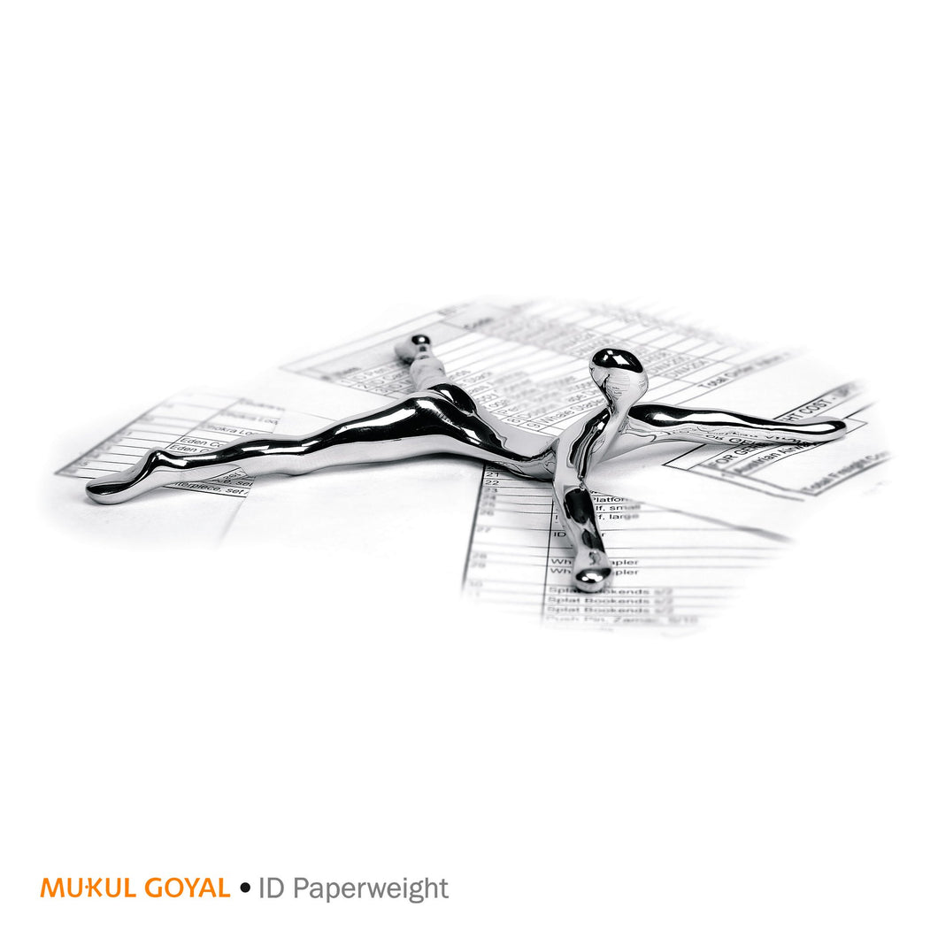 ID Paper Weight by Mukul Goyal on Zaarga - classy paper weight Finished in Chromed Brass.