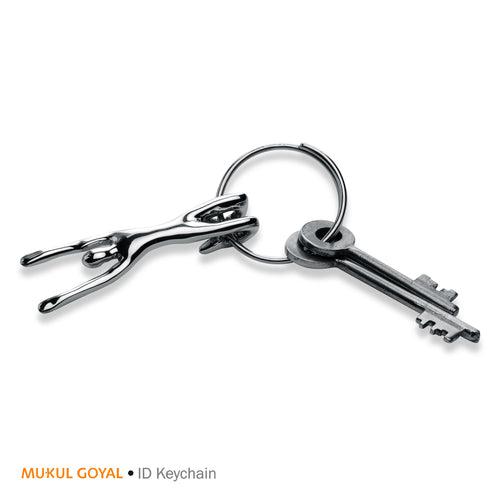ID Keychain by Mukul Goyal on Zaarga - in Chromed Brass and Steel.