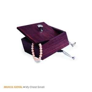 My Chest by Mukul Goyal on Zaarga - A chest for trinkets and your knick-knacks, finished in Chromed Brass & Teak Wood.