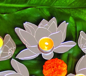 MIRROR Lotus Tea-light holder - XS