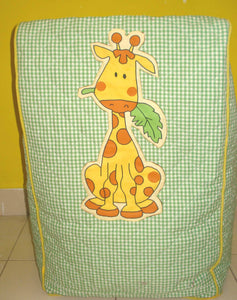 Jungle themed bean chair cover