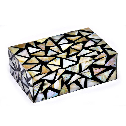 Mother of Pearl Exclusive Triangle Design Jewellery Box