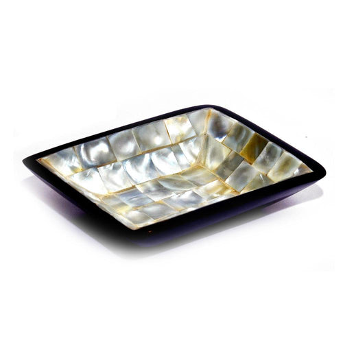Exclusive  Mother of Pearl Square Plain  Bowl