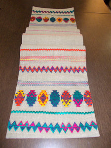 Folk- Kilim table runner -Aztec