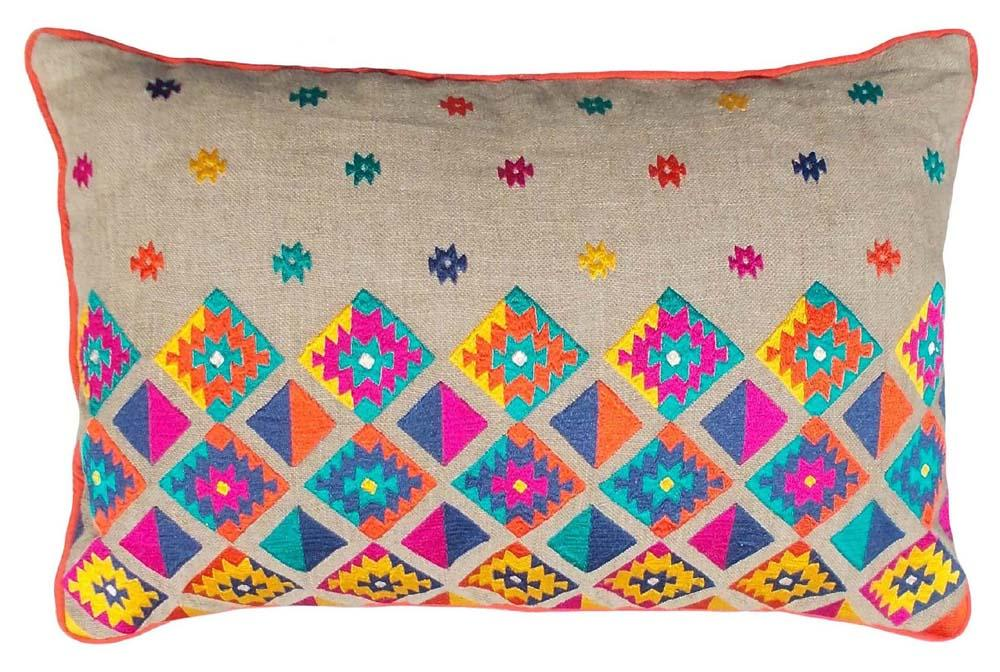 Folk - Kilim embroidery Cushion Cover