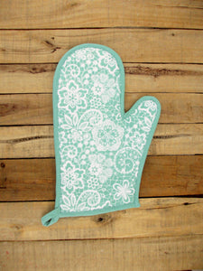 Mint- Lace print Glove