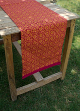 Pink and orange- Tile print Table runner, 14'x60'