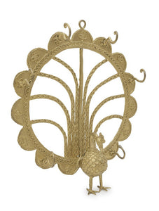 Miharu Dhokra Peacock Multiple Wall Hook