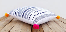 Aztec print pillow cover, cotton pillow case, tribal, geometrical, standard size 16X16 inches.