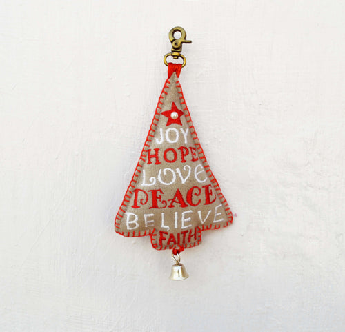 Christmas ornament, Christmas tree, handmade, holiday charm, xmas tree ornament, size 7.5' or 19 cms