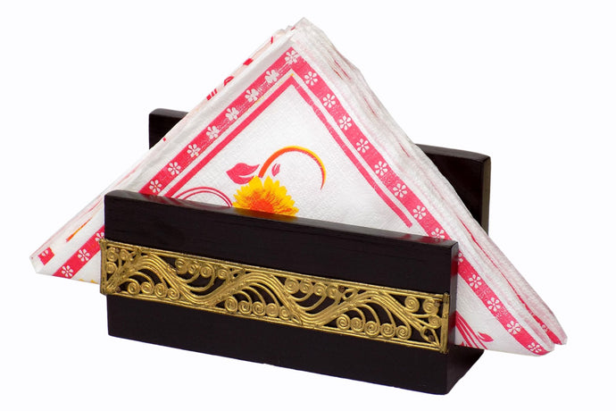 Miharu Dhokra Rectangular Net Napkin Holder