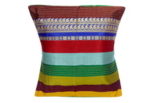 Miharu Brown and Multicolor Embroided Pure Silk Baluchari Cushion Cover