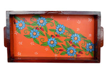 Miharu Orange Patachitra Hand Painted Wooden Tray