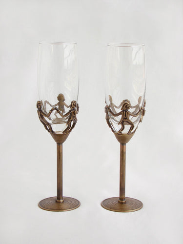 Tribal Dance - Champagne Glass (set of 2)