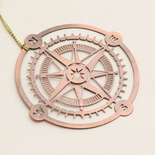 Compass Copper - Metal Bookmark