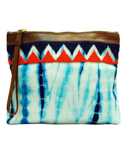 Indiegenius - Blue Shibori Clutch