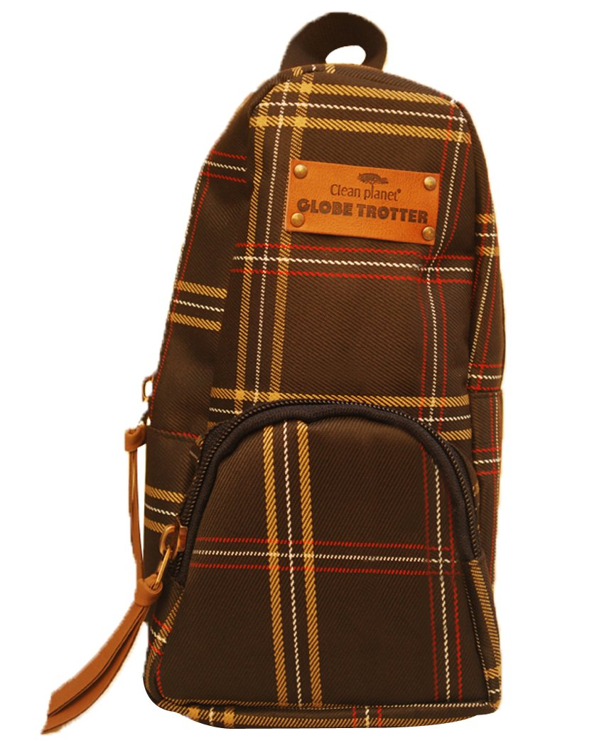 Globetrotter Classic Mini Backpack Accessory Case Dark Brown Checks