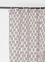 Grey polka curtain Panel, cotton voile, printed curtain, Sheer Drape, sizes available